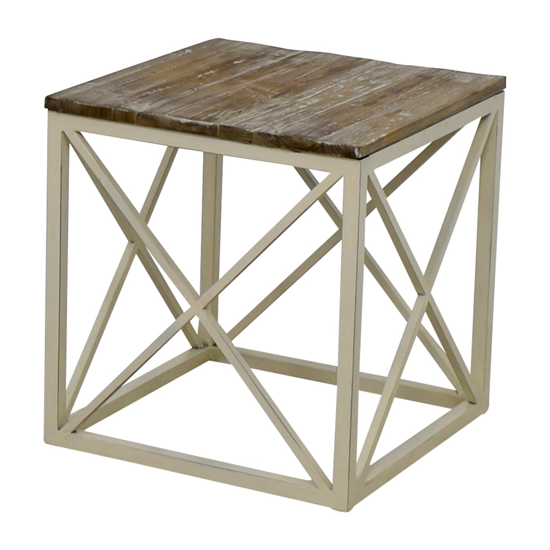 Wayfair Wayfair Wooden and Metal Side Table price