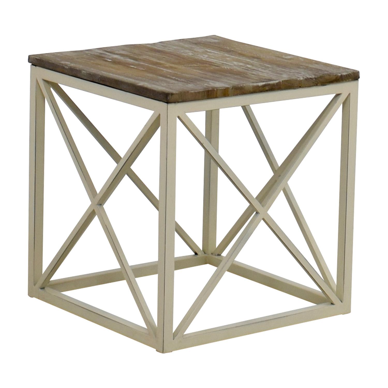 shop Wayfair Wooden and Metal Side Table Wayfair