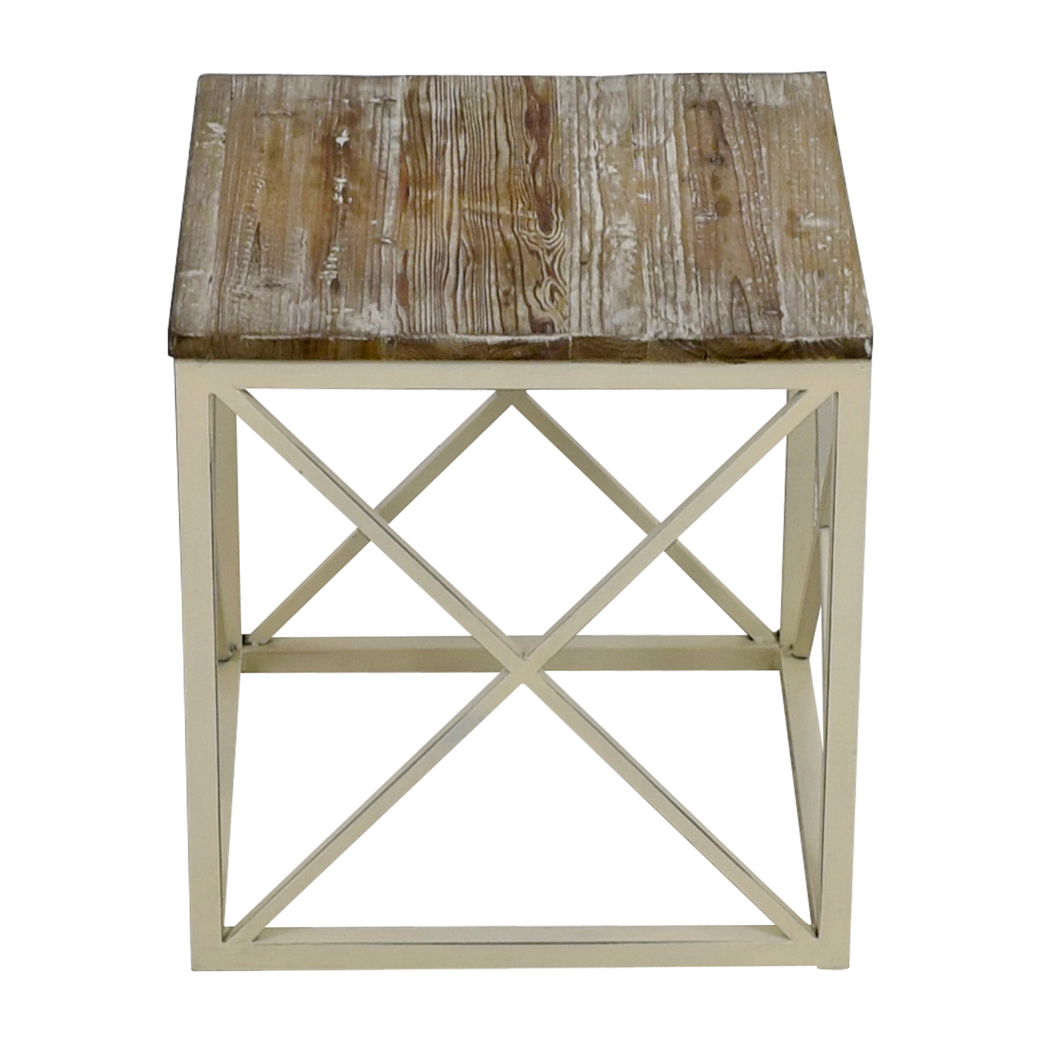 Wayfair Wayfair Wooden and Metal Side Table second hand