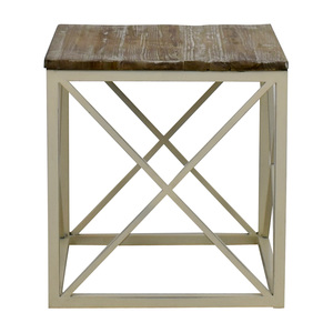 Wayfair Wayfair Wooden and Metal Side Table for sale