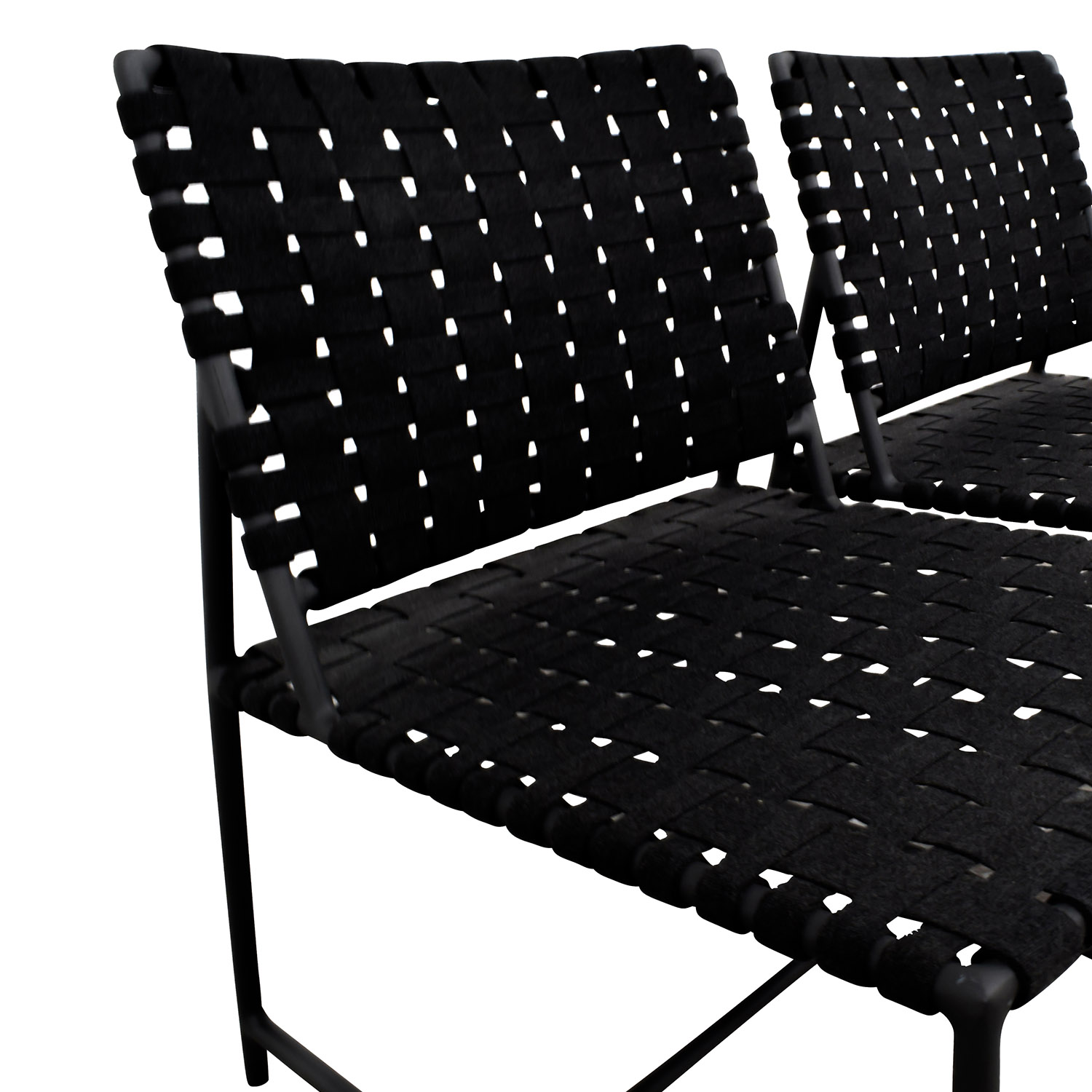 Restoration Hardware Restoration Hardware Dark Grey Woven Outdoor Chairs used