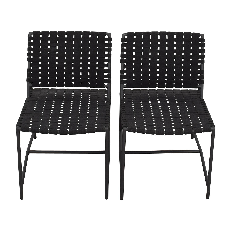 shop Restoration Hardware Dark Grey Woven Outdoor Chairs Restoration Hardware