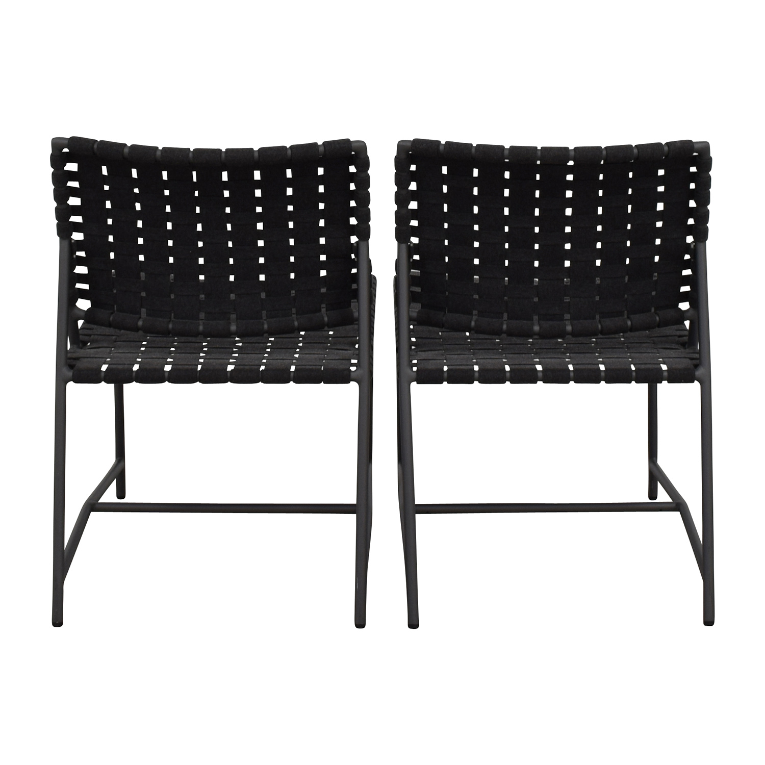 Restoration Hardware Restoration Hardware Dark Grey Woven Outdoor Chairs coupon