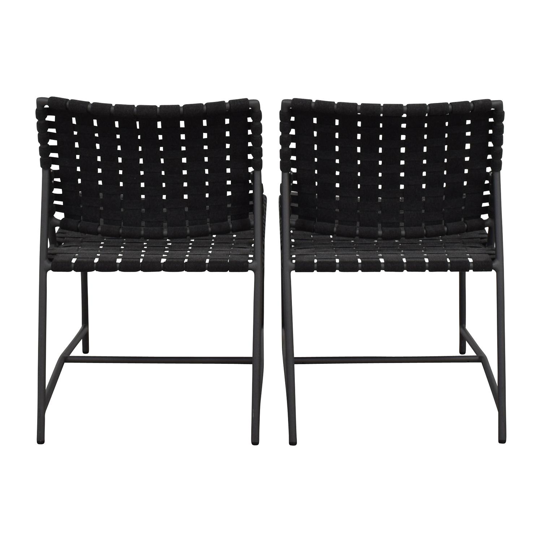 shop Restoration Hardware Dark Grey Woven Outdoor Chairs Restoration Hardware Dining Chairs