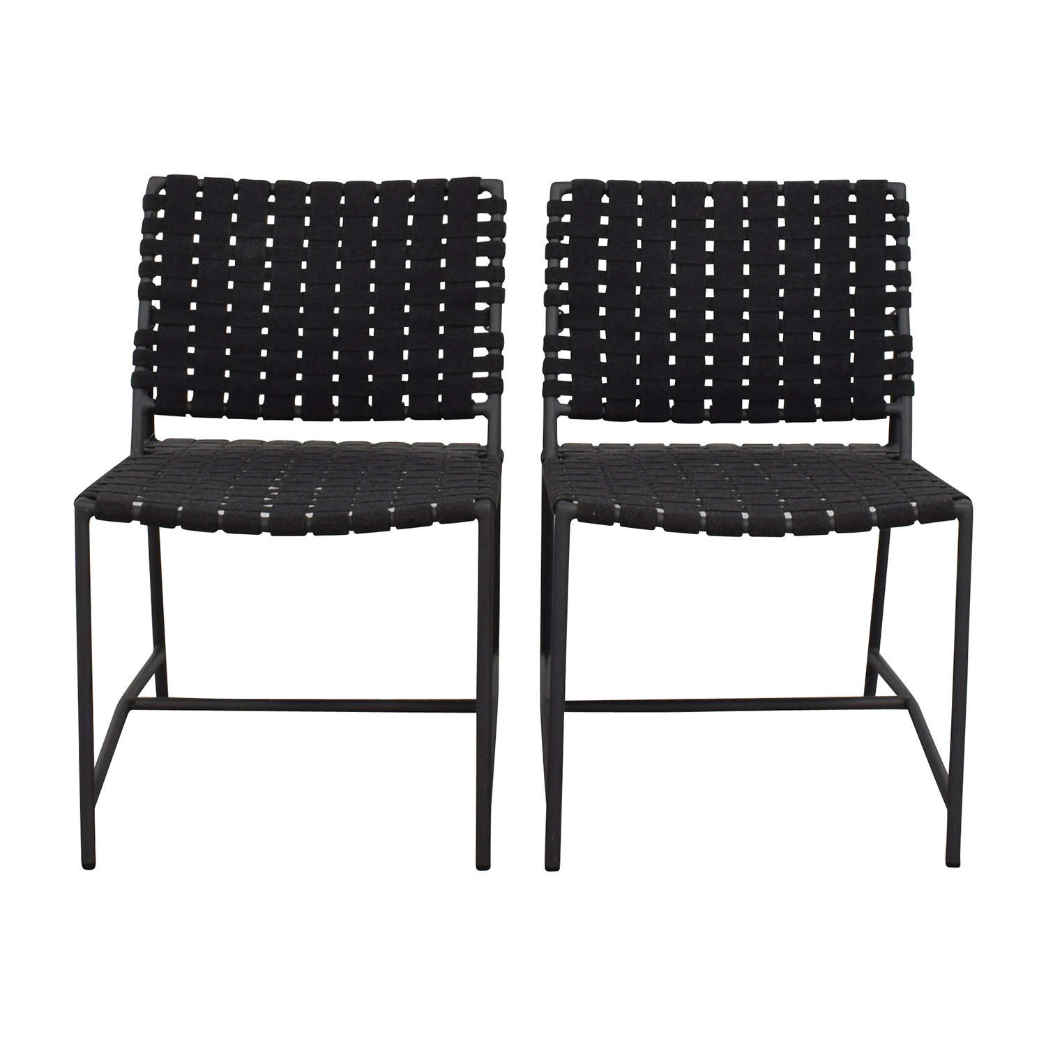 shop Restoration Hardware Dark Grey Woven Outdoor Chairs Restoration Hardware Dining Chairs