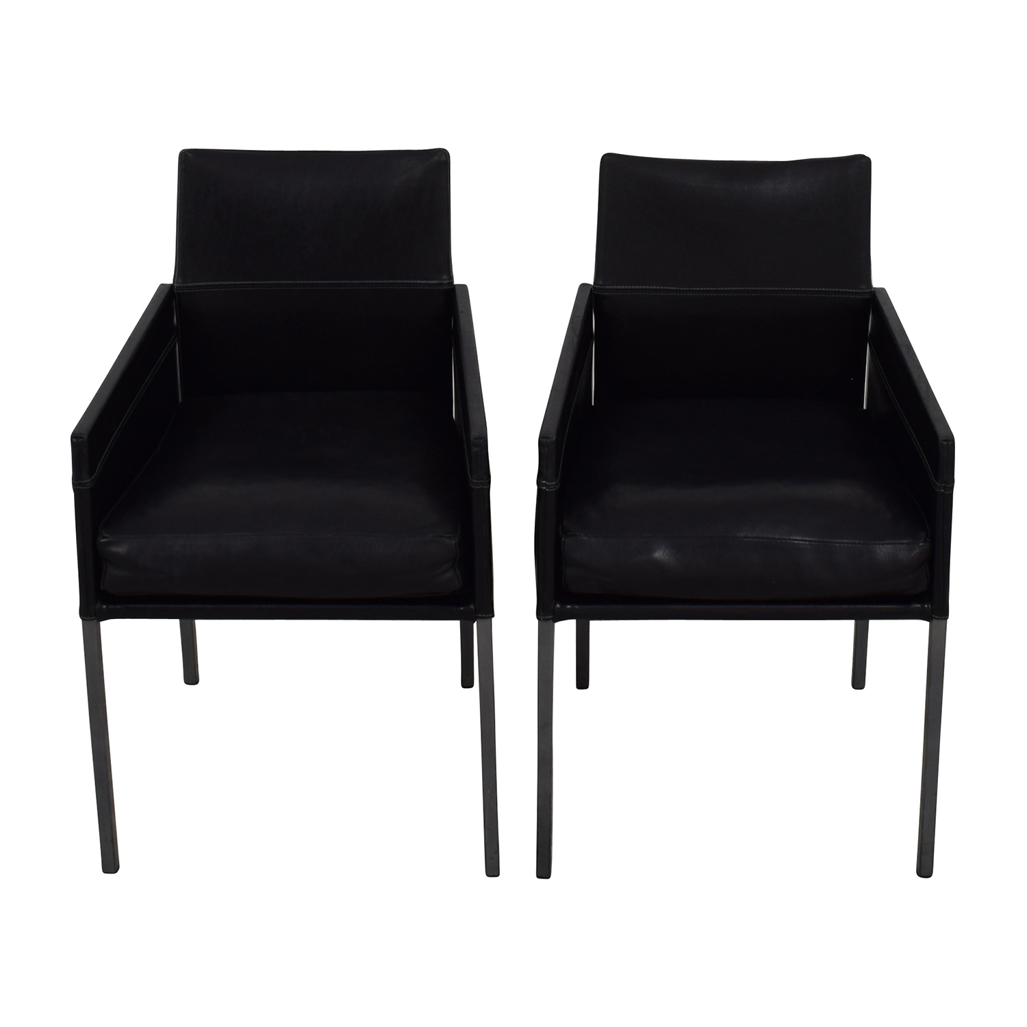 shop Design Within Reach Black Leather Chairs Design Within Reach Accent Chairs