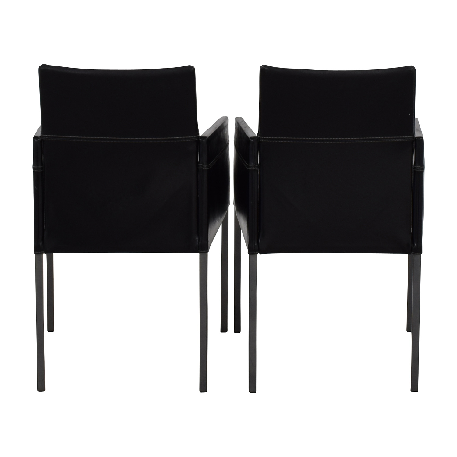 Design Within Reach Design Within Reach Black Leather Chairs discount