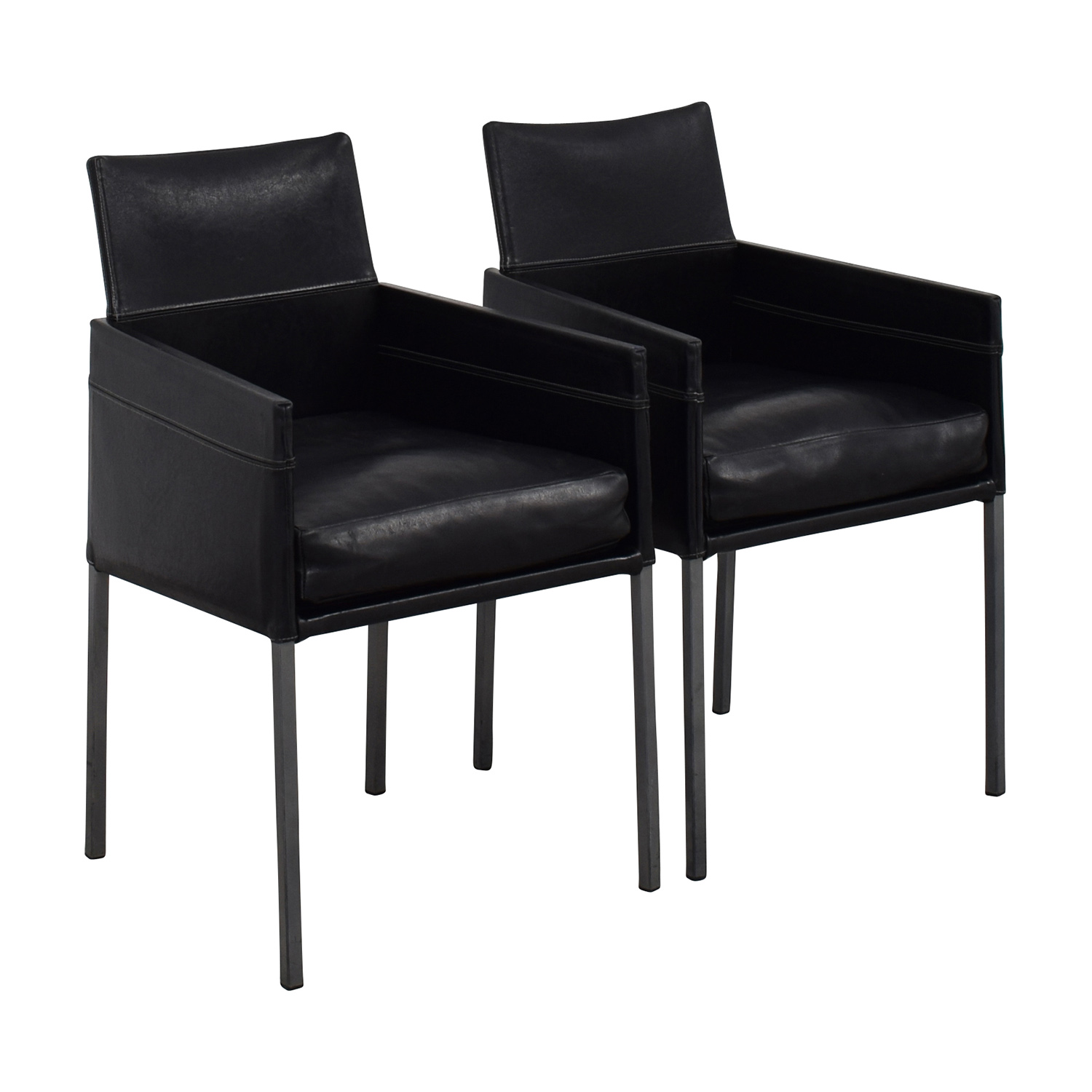 buy Design Within Reach Black Leather Chairs Design Within Reach Accent Chairs
