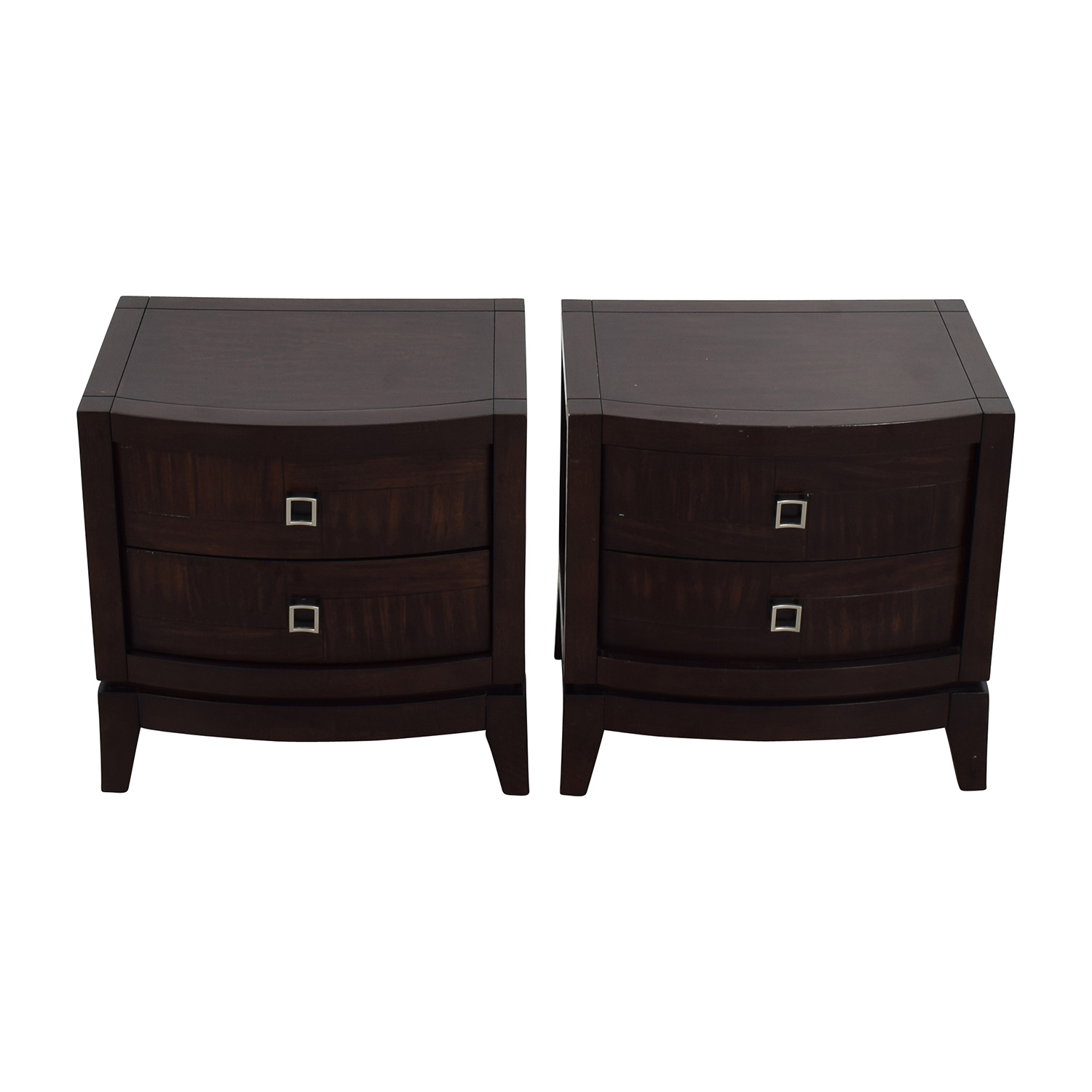 Najarian Jigsaw Pattern Two-Drawer Bedside Tables sale