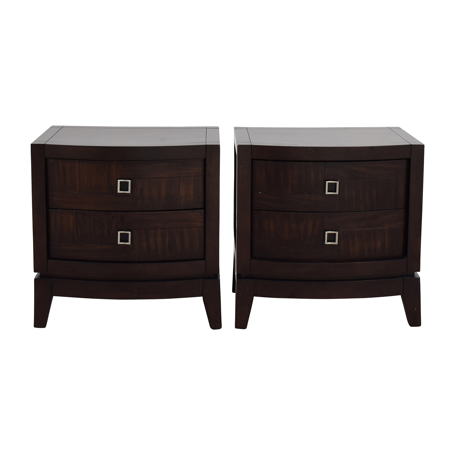shop Najarian Jigsaw Pattern Two-Drawer Bedside Tables Najarian End Tables