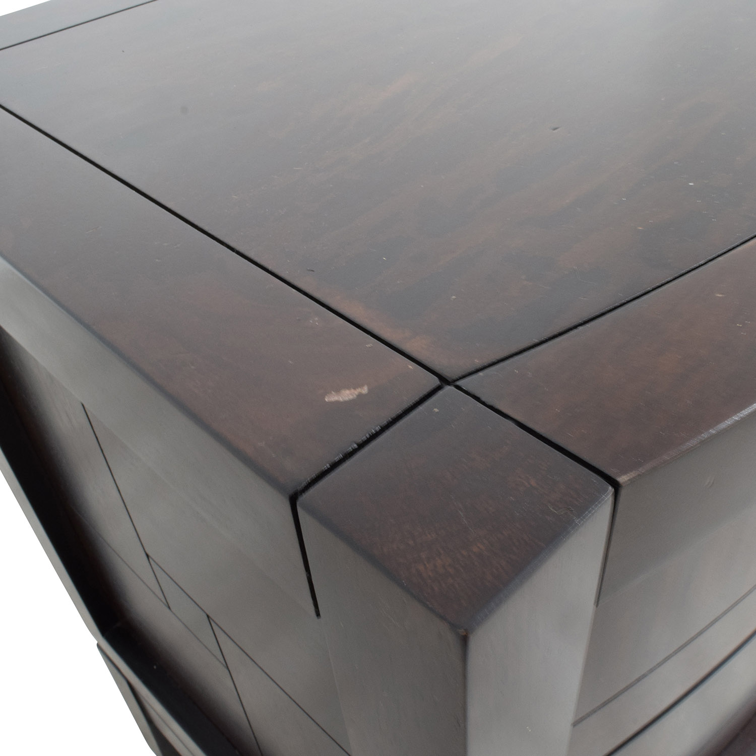 Najarian Jigsaw Pattern Two-Drawer Bedside Tables / End Tables