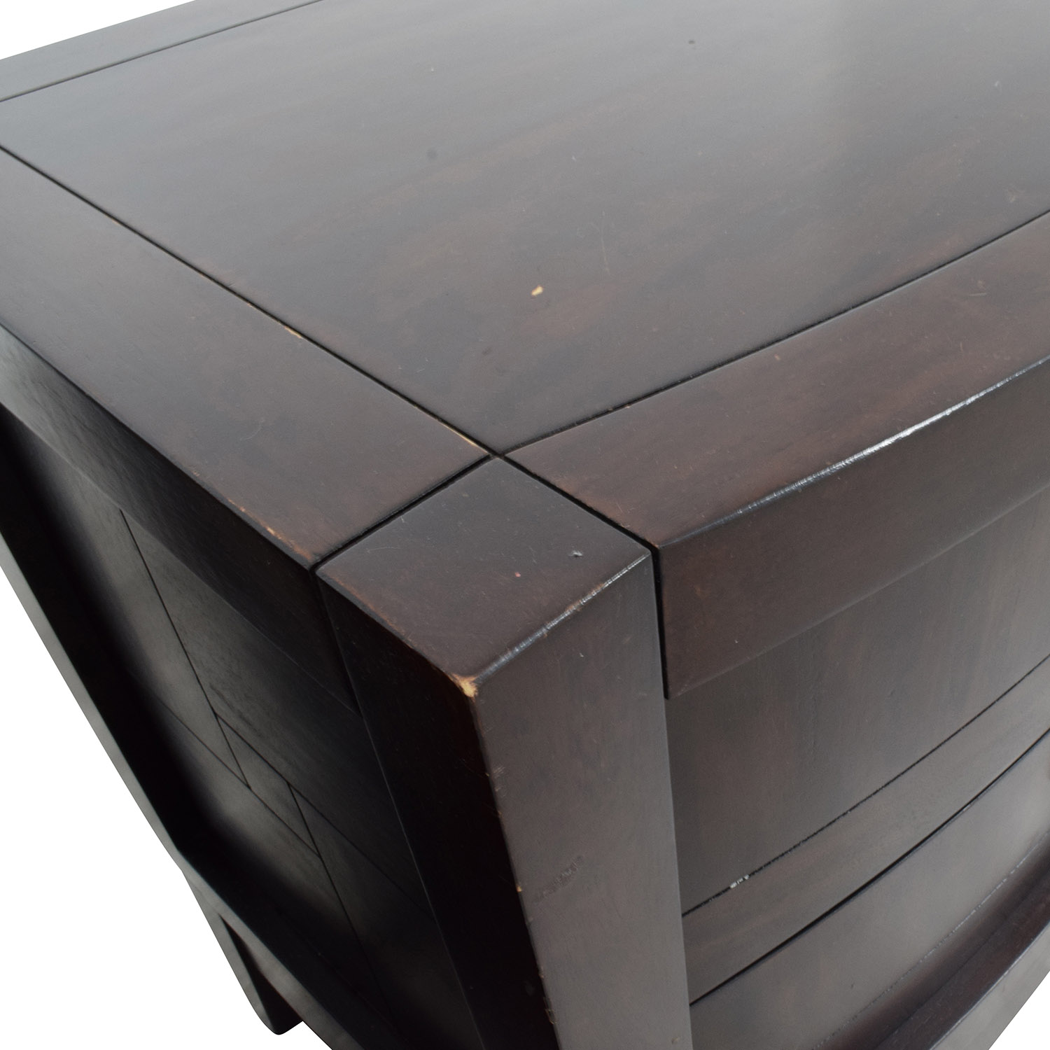 Najarian Najarian Jigsaw Pattern Two-Drawer Bedside Tables Tables