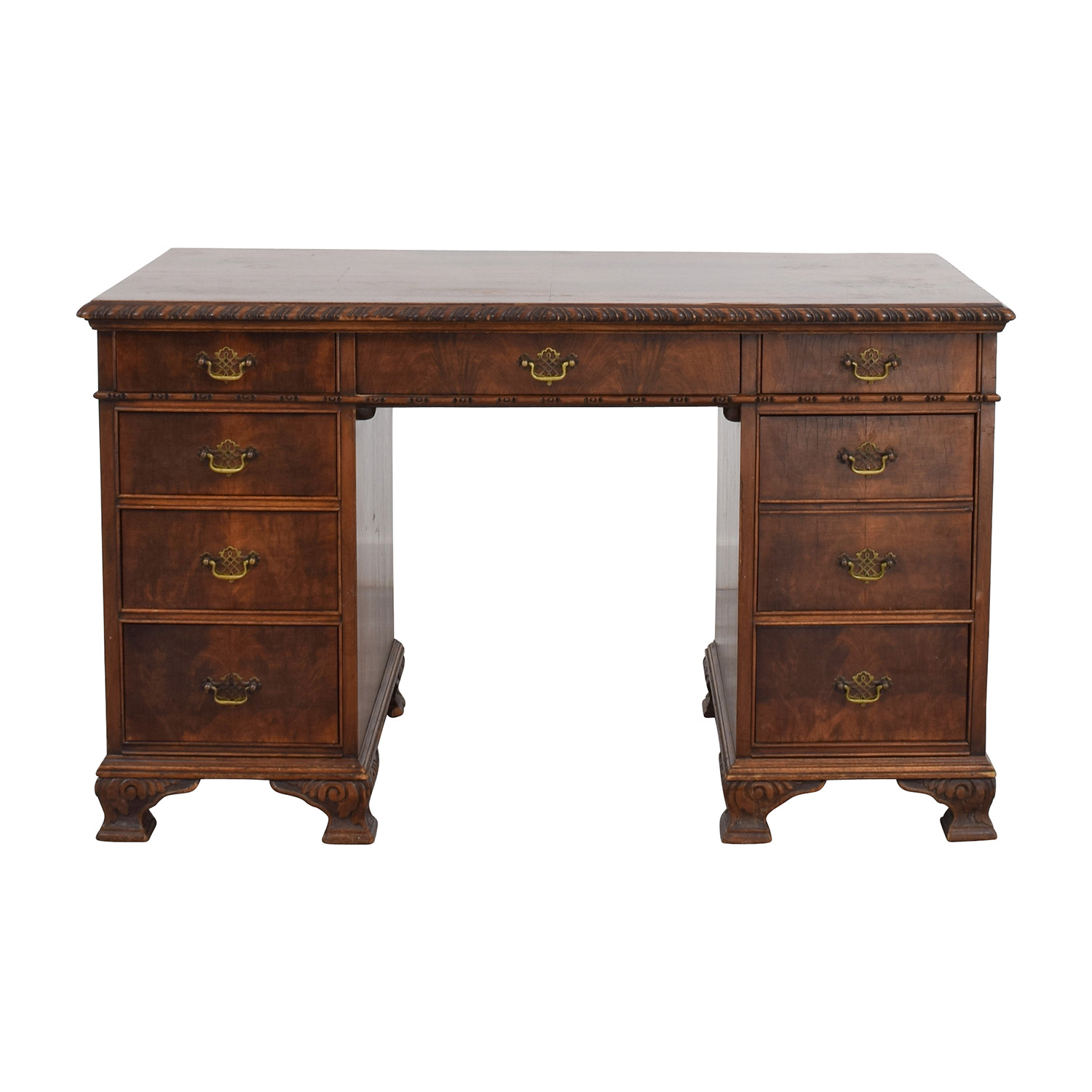 Antique Carved Executive Desk nyc