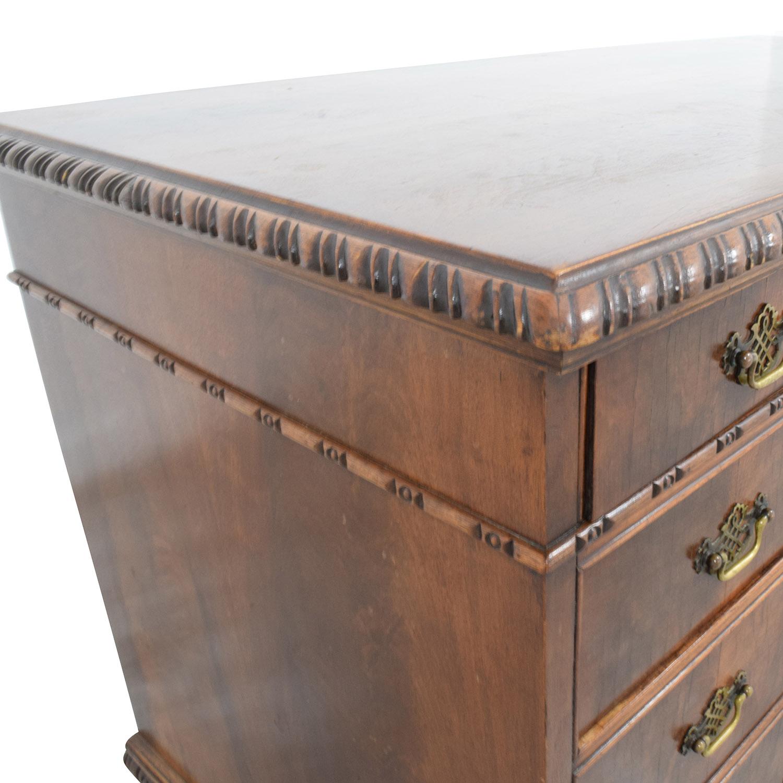 buy Antique Carved Executive Desk online