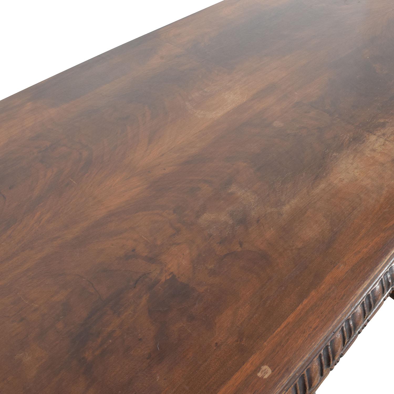 Antique Carved Executive Desk for sale