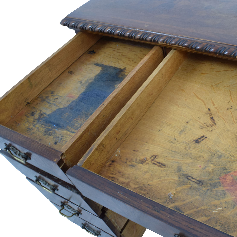 Antique Carved Executive Desk