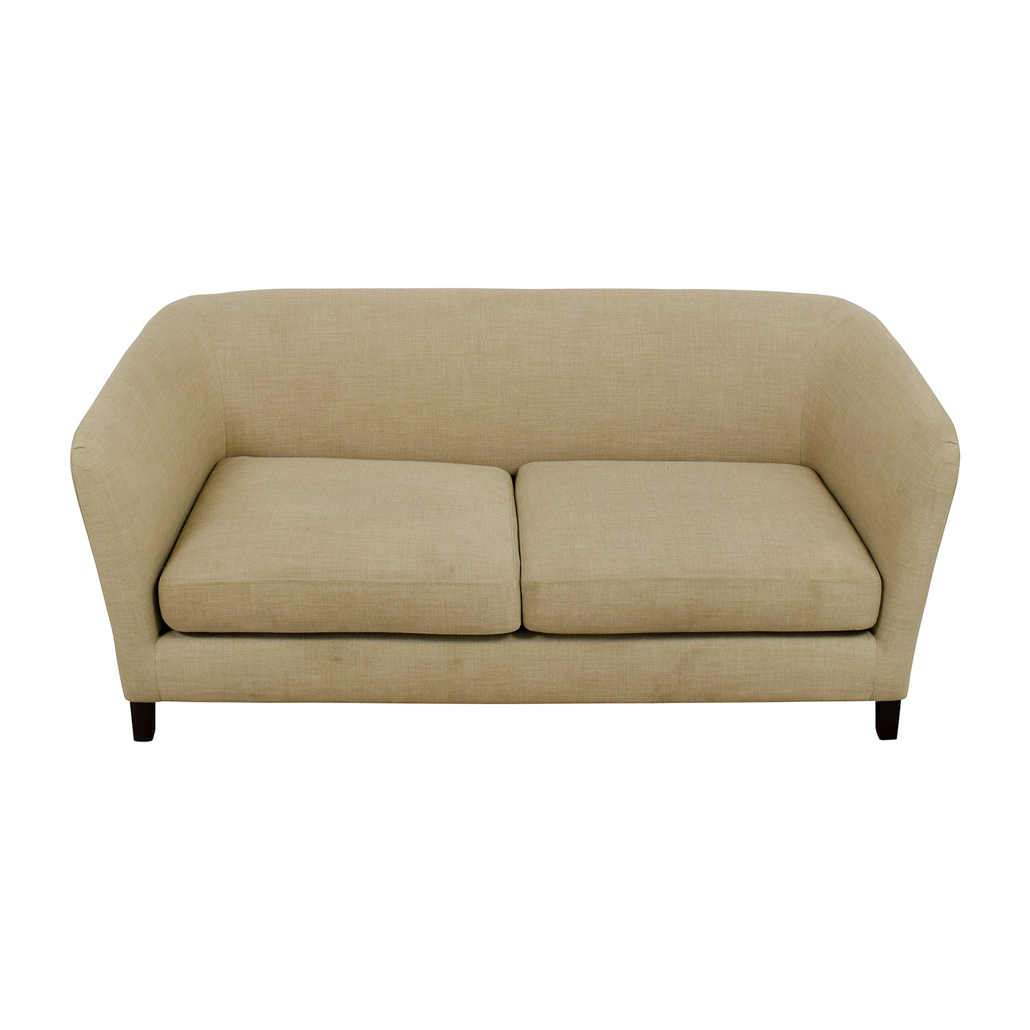 Crate & Barrel Crate & Barrel Mid-Century Two-Seat Neutral Sofa Sofas