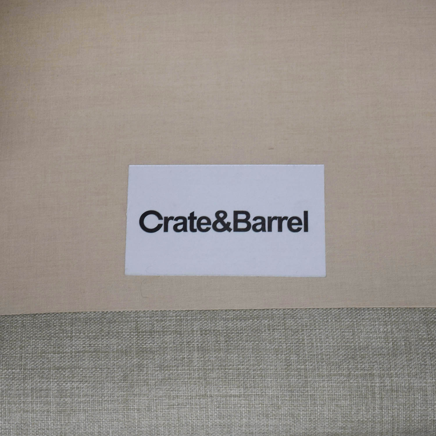 buy Crate & Barrel Mid-Century Two-Seat Neutral Sofa Crate & Barrel Sofas