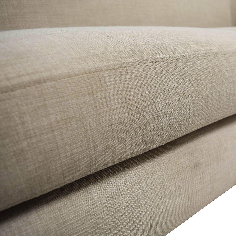 shop Crate & Barrel Mid-Century Two-Seat Neutral Sofa Crate & Barrel Classic Sofas
