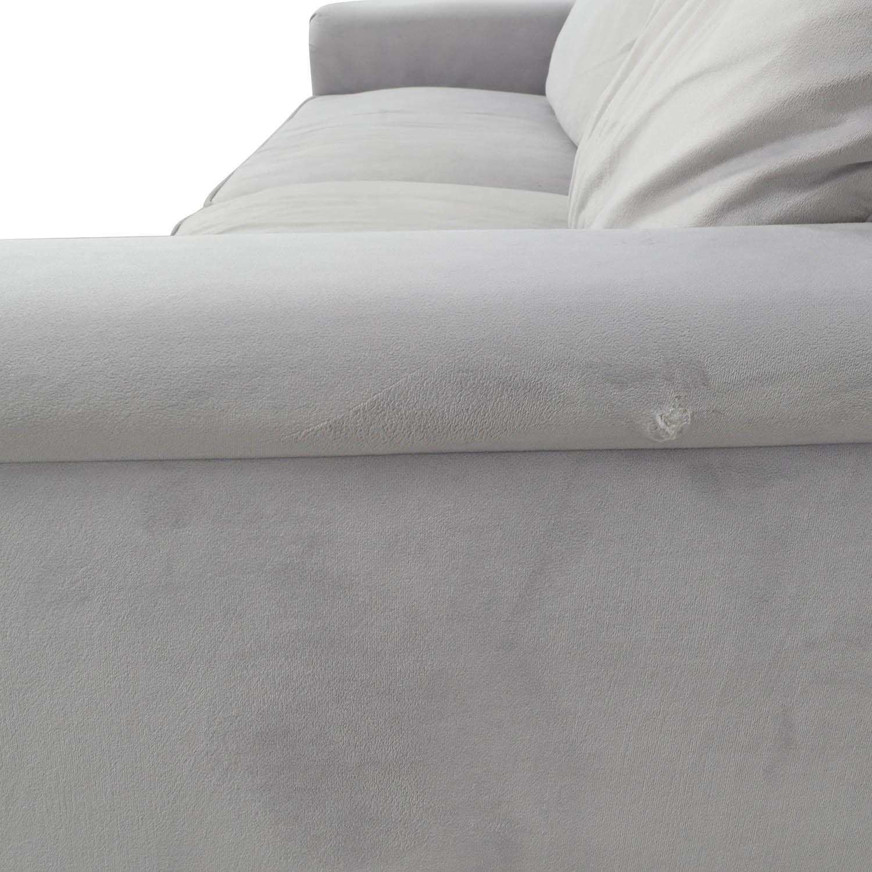 Coaster Furniture Coaster Furniture Grey Microfiber Studded Sofa used