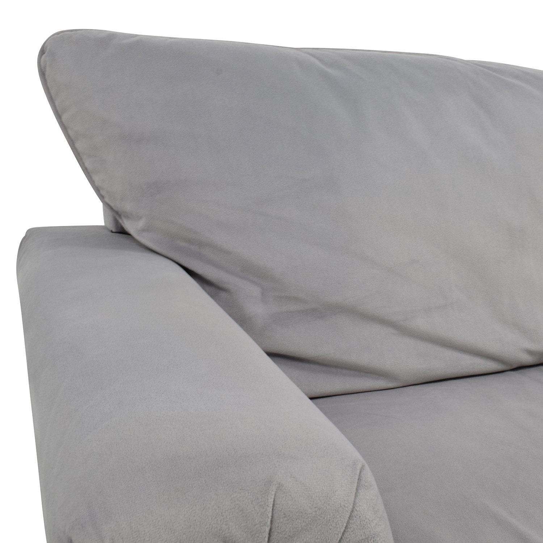 Coaster Furniture Grey Microfiber Studded Sofa / Sofas