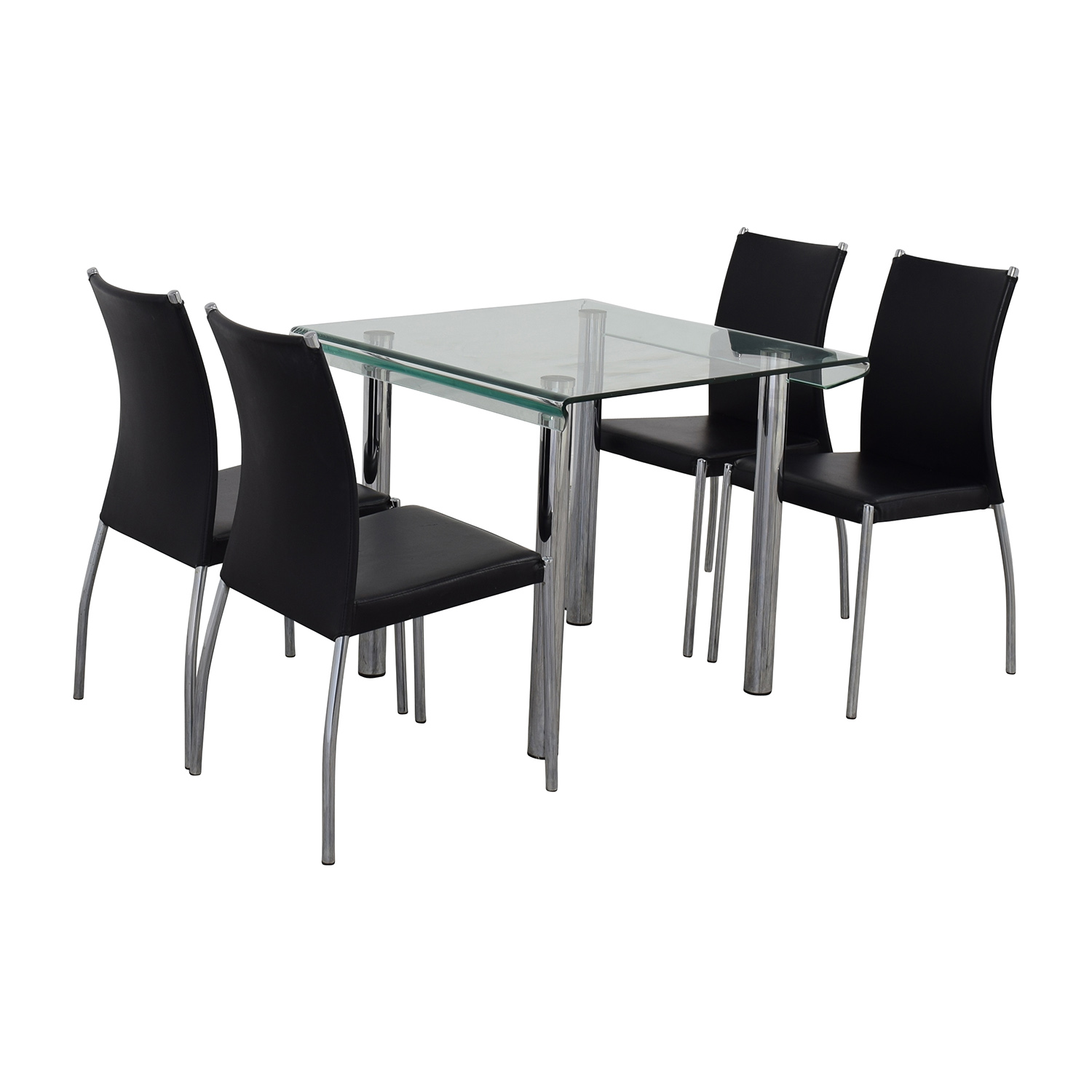 Division Street Division Street Glass and Chrome Dining Set Tables