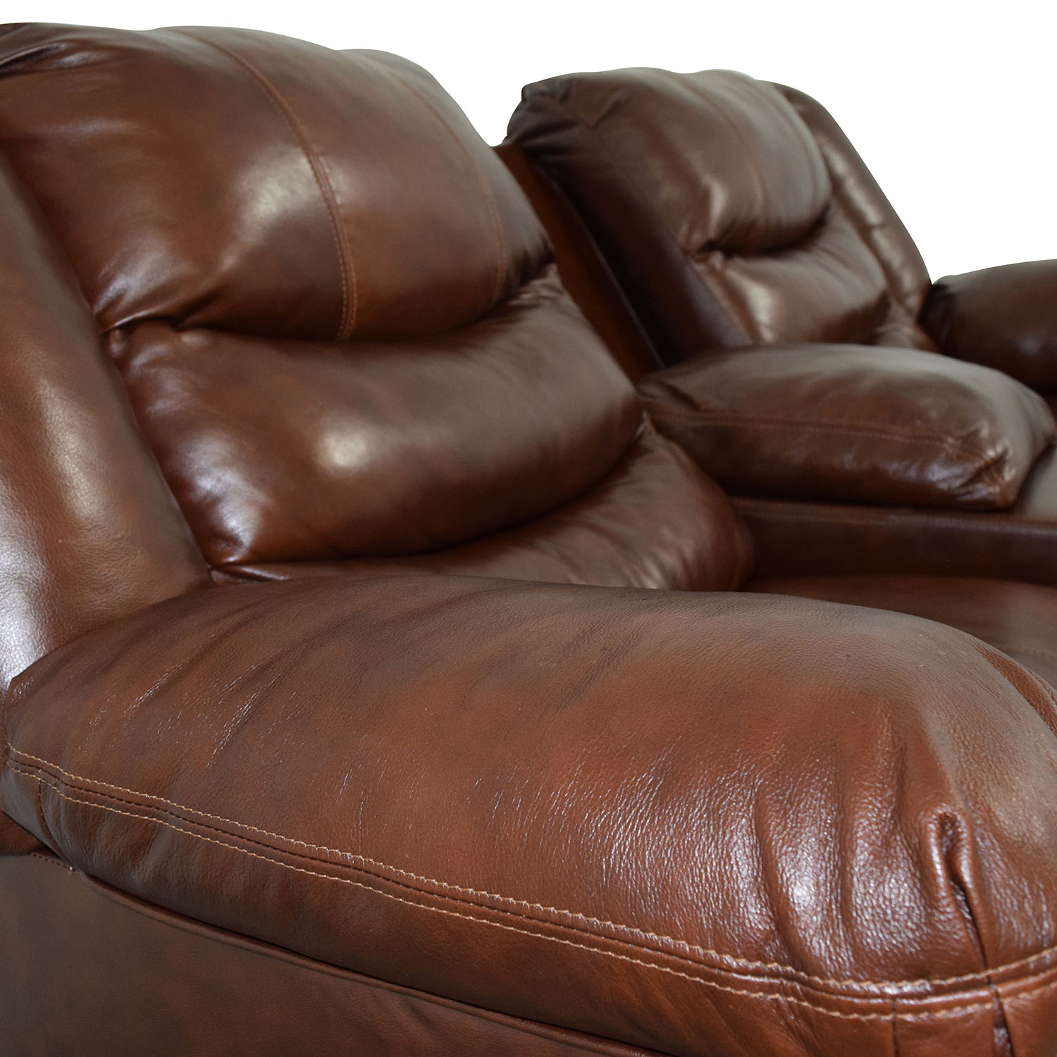 ... Ashley Furniture Ashley Furniture Brown Leather Reclining Couch Coupon