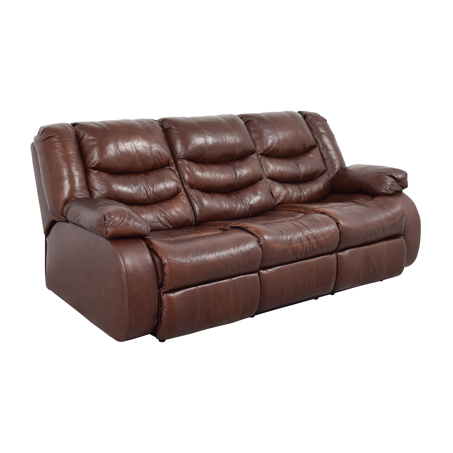 Ashleys Furniture Ashley Furniture Large Brown Leather Reclining Couch price