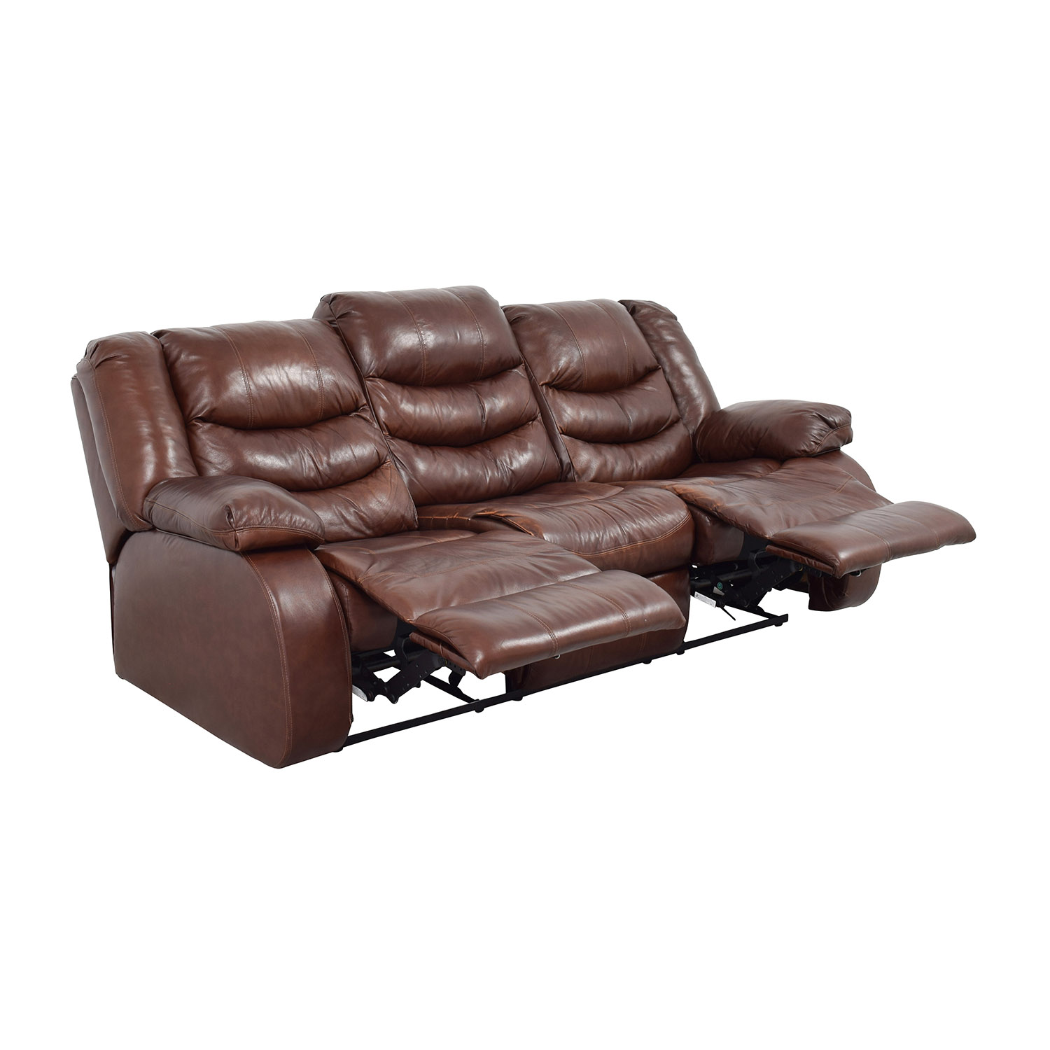 Ashleys Furniture Ashley Furniture Large Brown Leather Reclining Couch dimensions