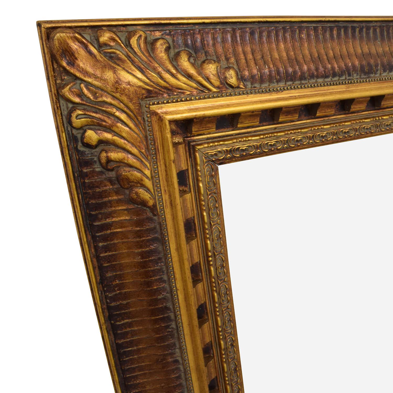 58 Off Antique Gold Framed Mirror Decor