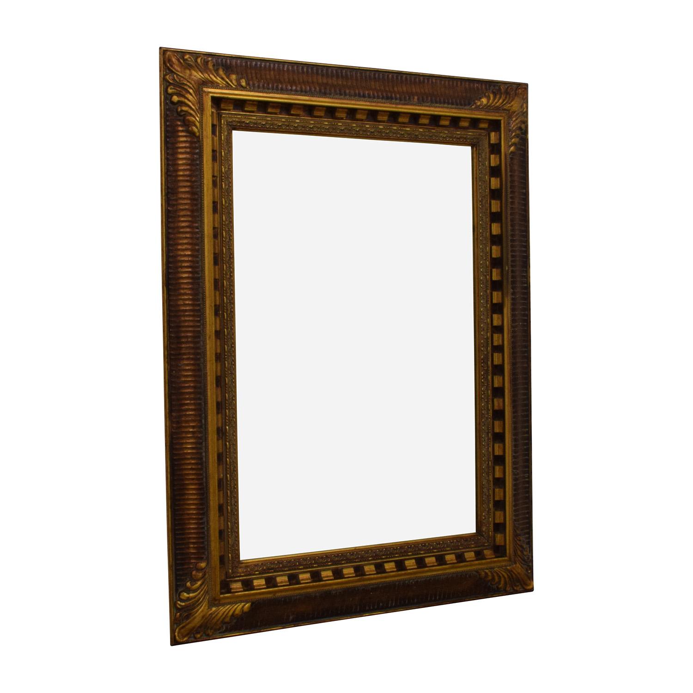 Antique Gold Framed Mirror Decor