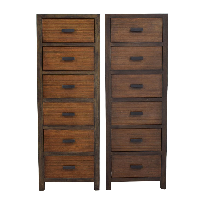 Crate and Barrel Crate & Barrel Del Re Slim Six Drawer Dresser Storage