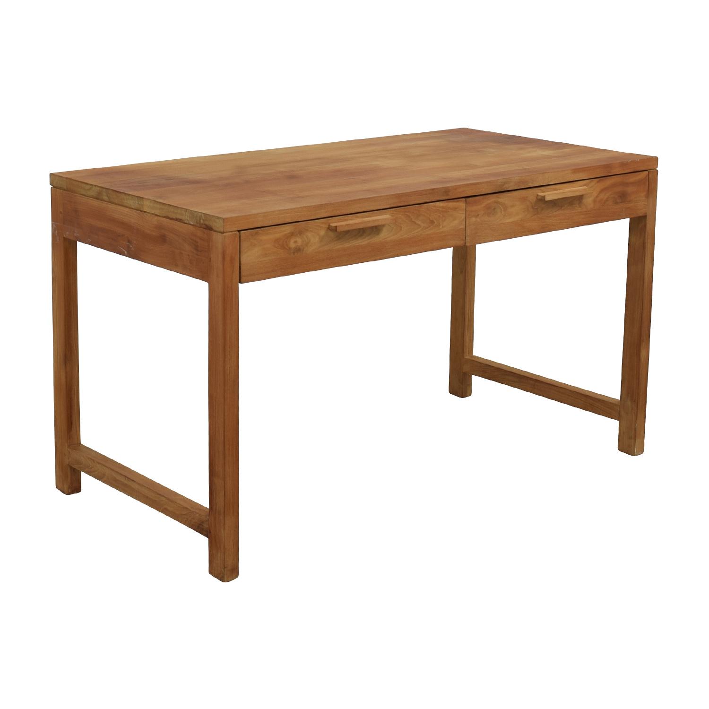 buy Room & Board Two-Drawer Teak Desk Room and Board