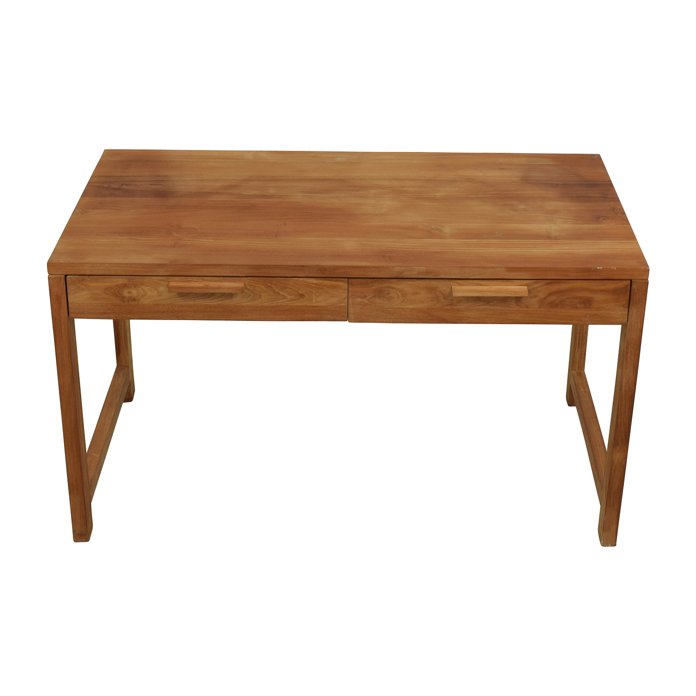 Room & Board Two-Drawer Teak Desk sale
