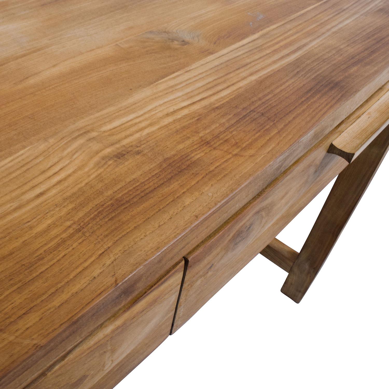 Room and Board Room & Board Two-Drawer Teak Desk tan