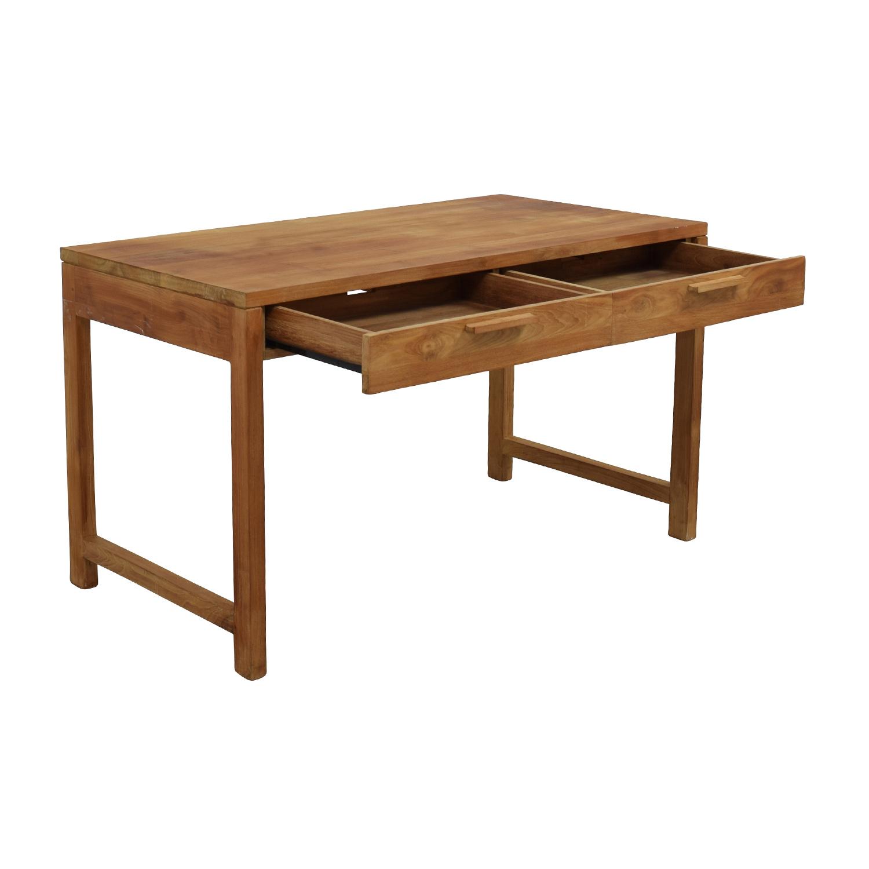 shop Room & Board Two-Drawer Teak Desk Room and Board Tables