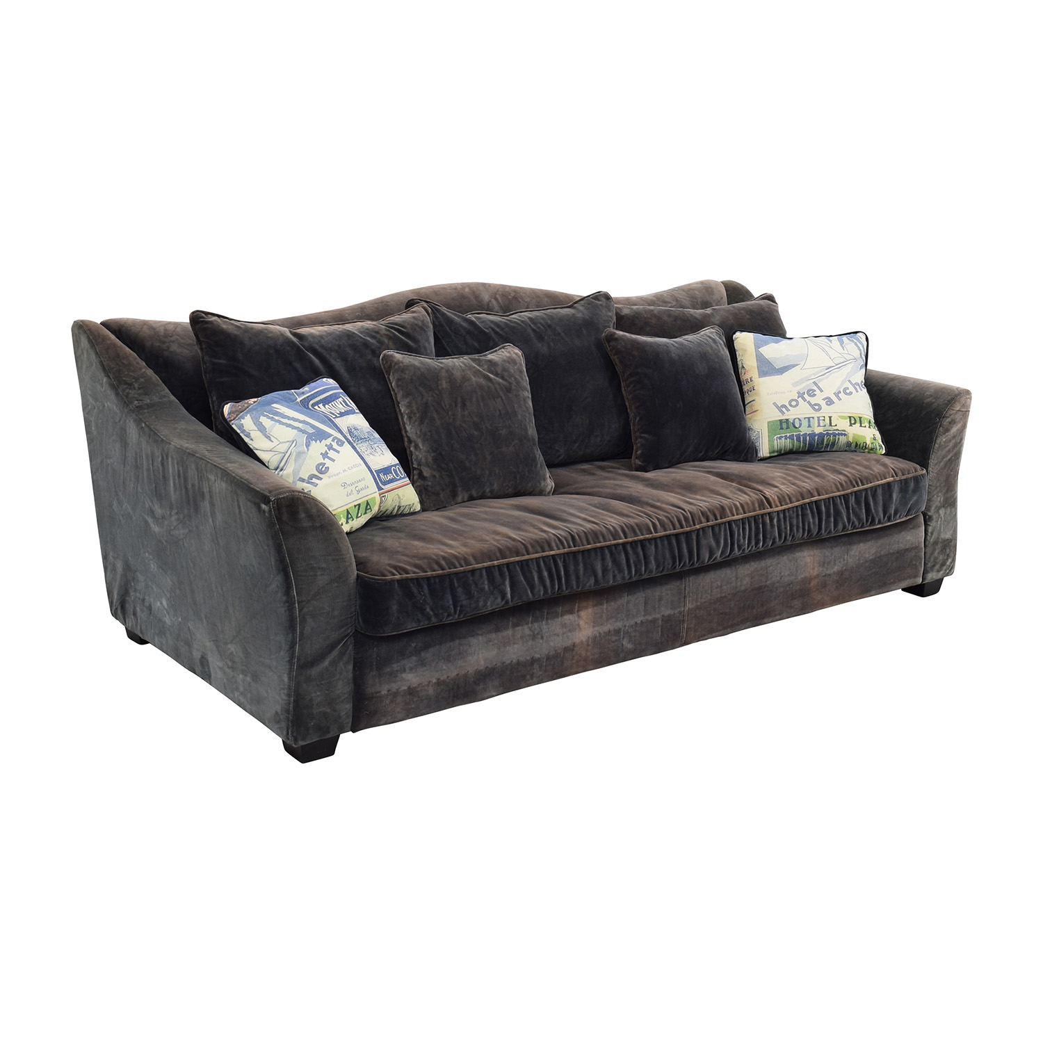 ABC Carpet and Home ABC Carpet & Home Timothy Oulton Grey Sofa dimensions