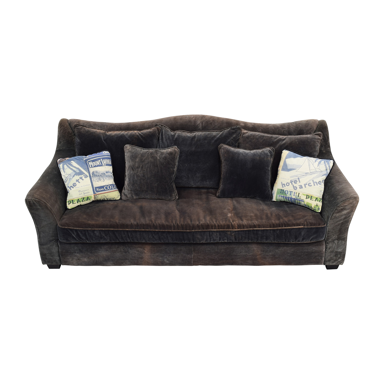 ABC Carpet & Home Timothy Oulton Grey Sofa / Sofas