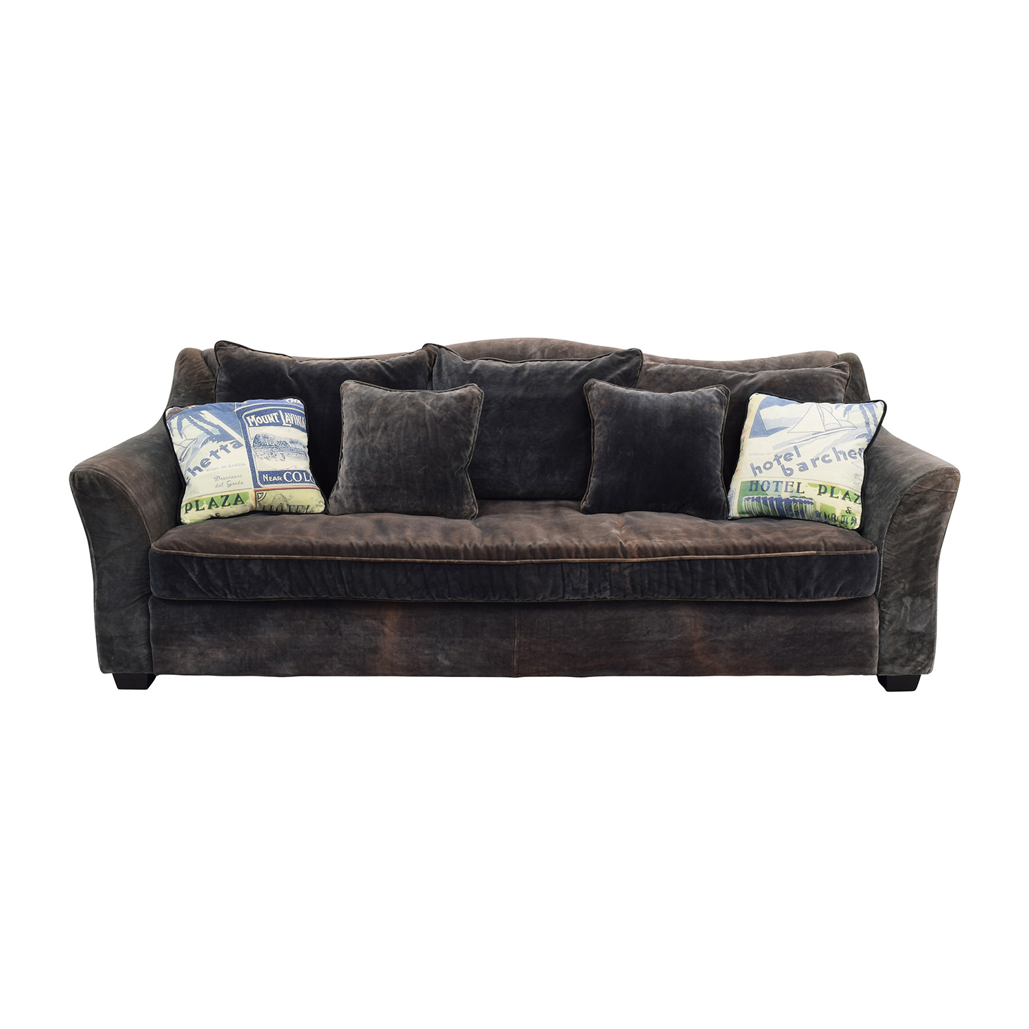 ABC Carpet and Home ABC Carpet & Home Timothy Oulton Grey Sofa for sale