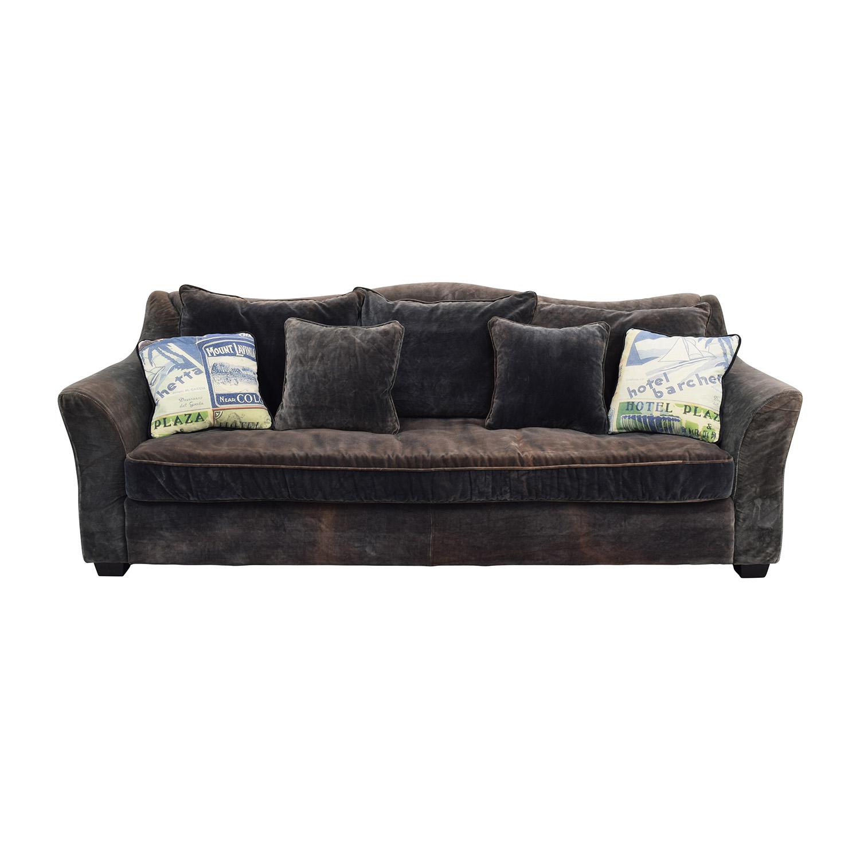 84% OFF - ABC Carpet & Home ABC Carpet & Home Timothy Oulton Grey Sofa /  Sofas