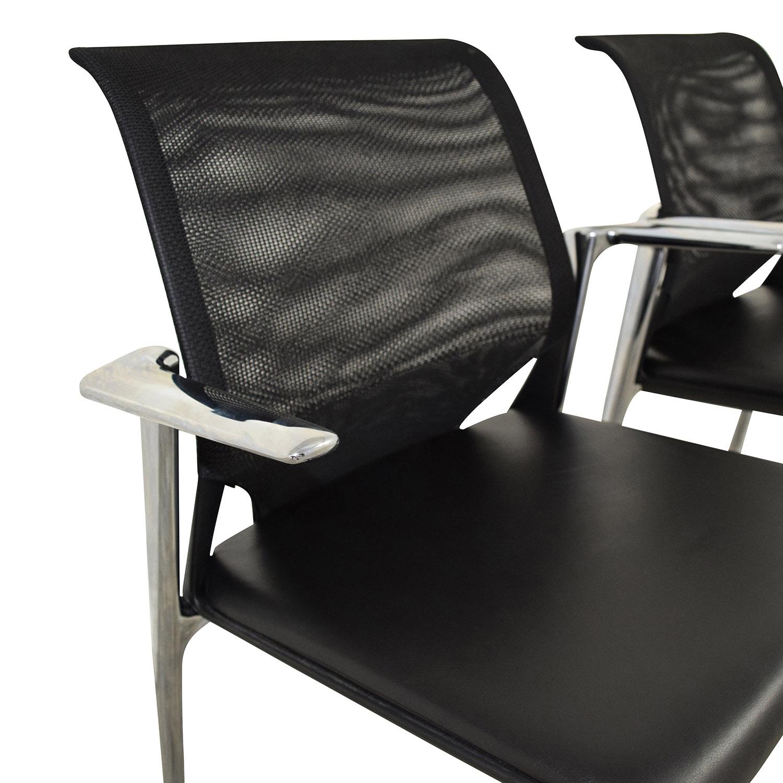 Vitra Vitra MedaSlim Leather Armchair for sale