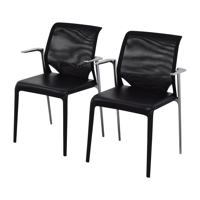 Vitra Vitra MedaSlim Leather Armchair Chairs