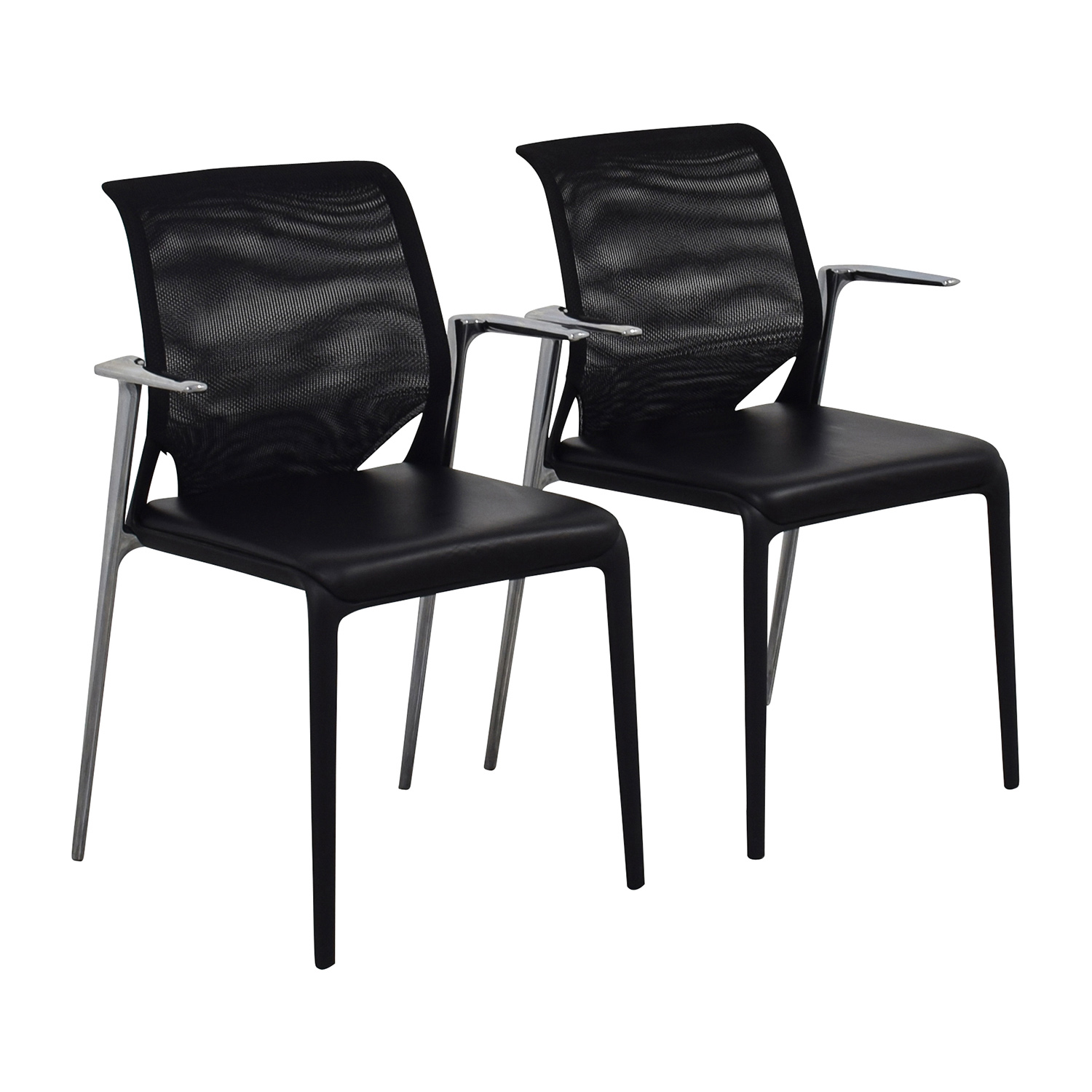 65 off vitra vitra medaslim leather armchair chairs for Vitra armchair gebraucht