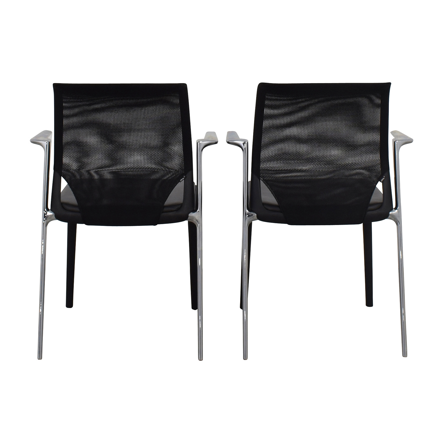 shop Vitra MedaSlim Leather Armchair Vitra Accent Chairs