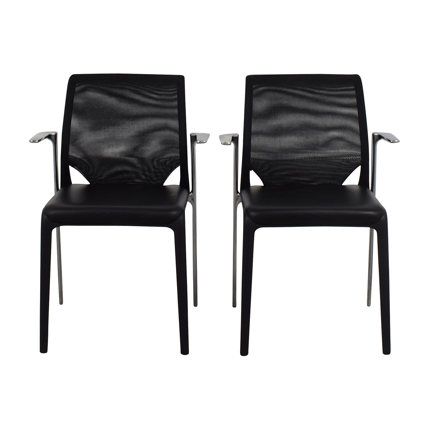 buy Vitra Vitra MedaSlim Leather Armchair online