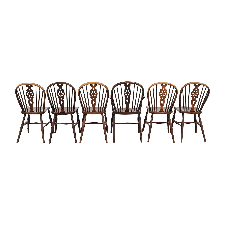 Tim Wharton Antiques Georgian Windsor Chairs sale