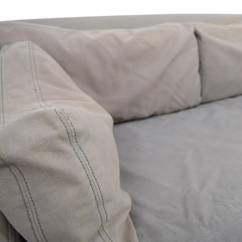buy Restoration Hardware Restoration Hardware Belgian Slope Arm Slipcover Sofa online