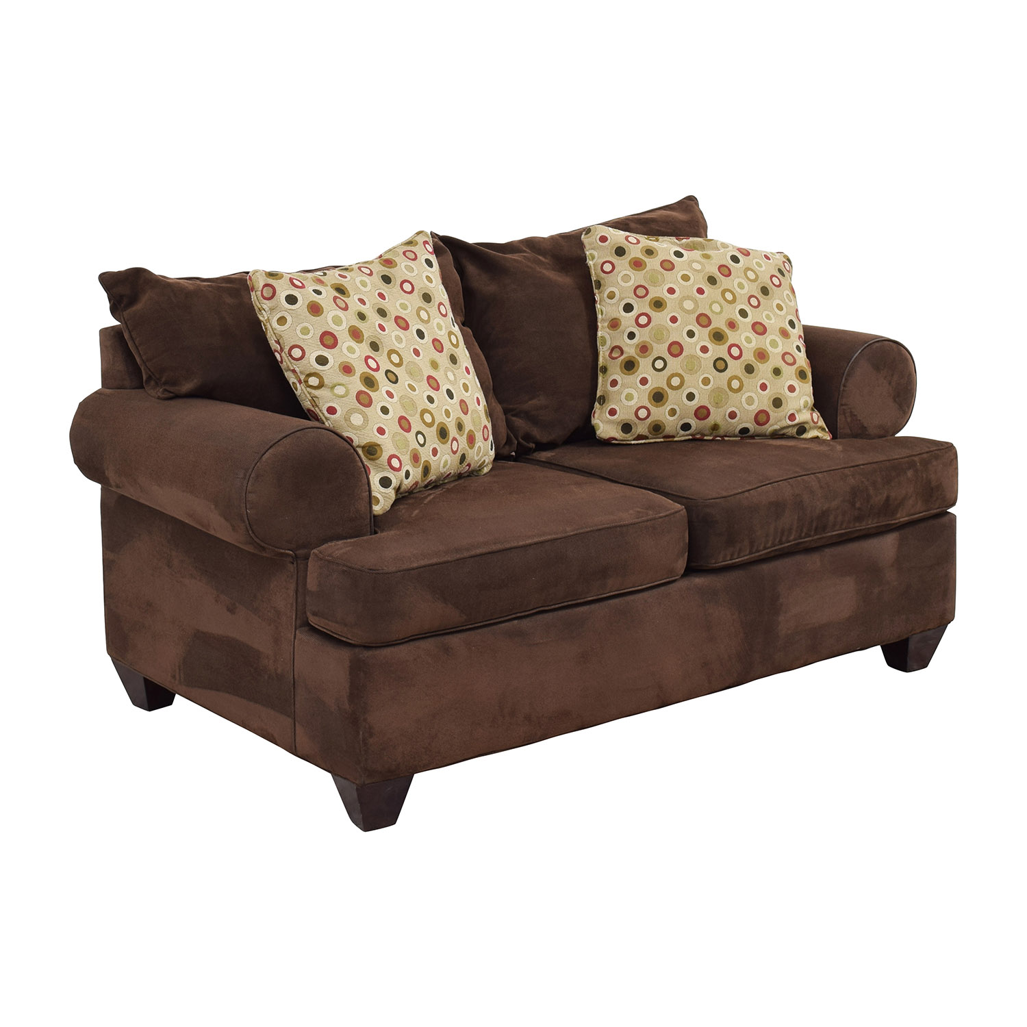 Raymour and Flanigan Raymour & Flanigan Brown Two-Cushion Loveseat coupon