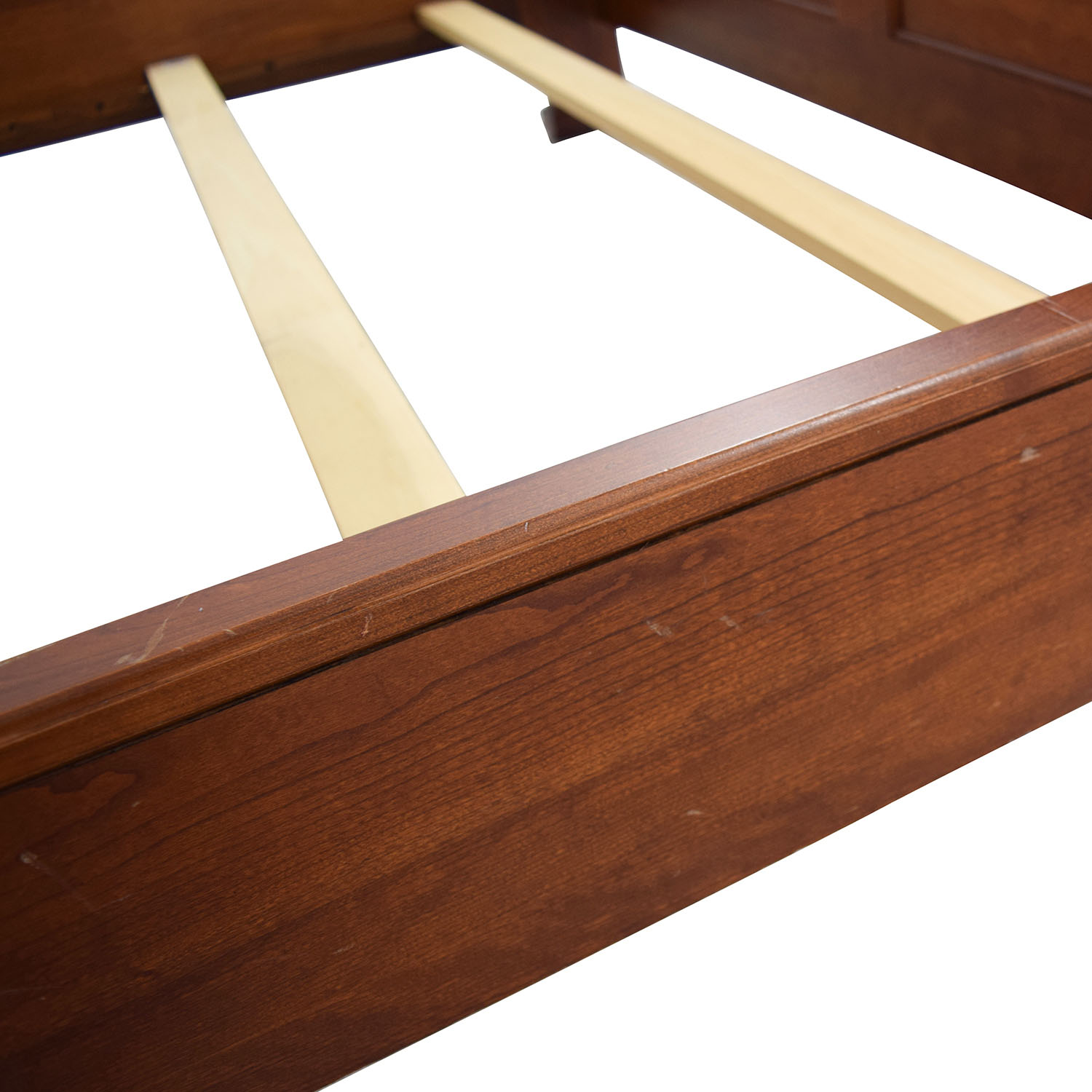 Solid Cherry Wood Queen Sleigh Bed Brown