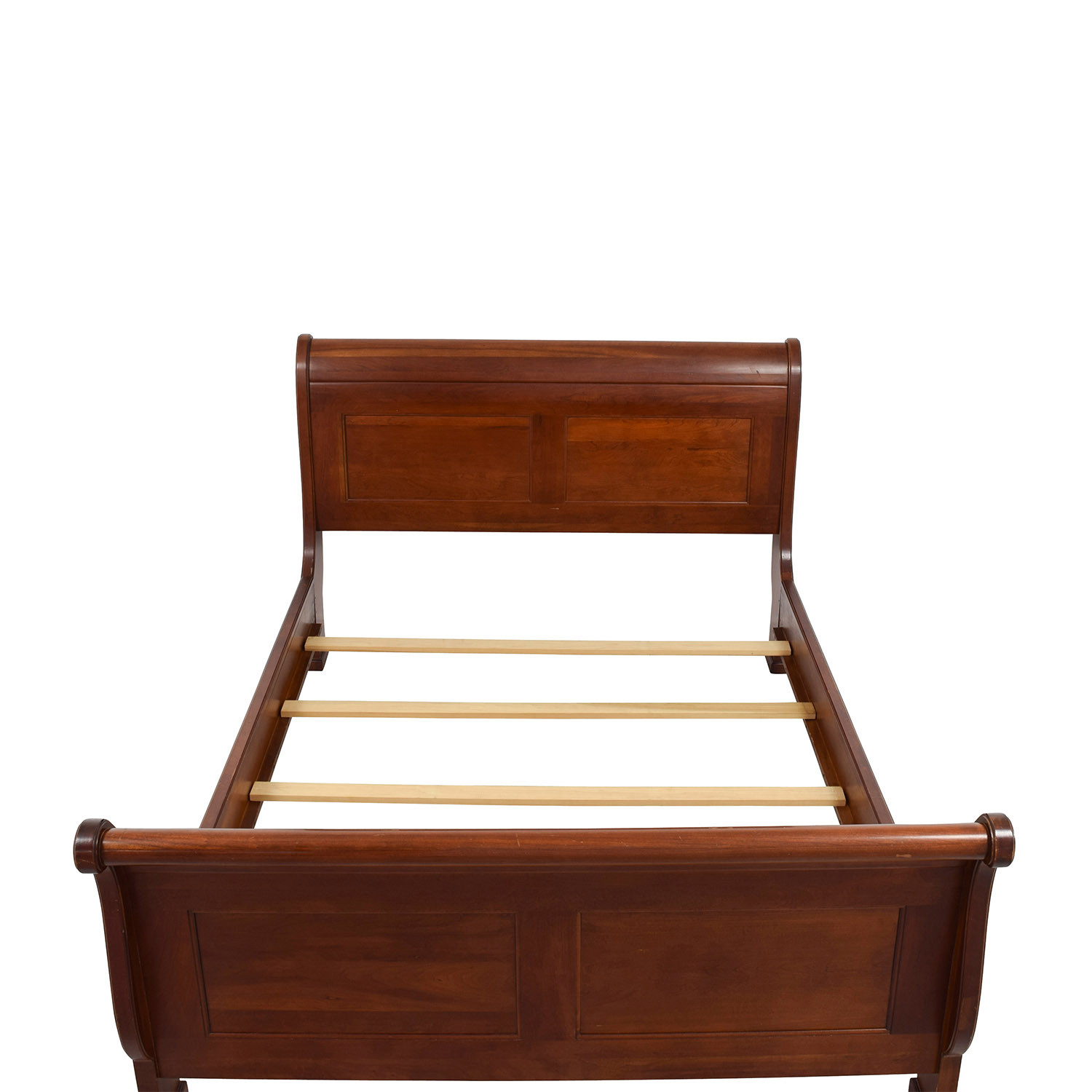 ... Buy Solid Cherry Wood Queen Sleigh Bed ...